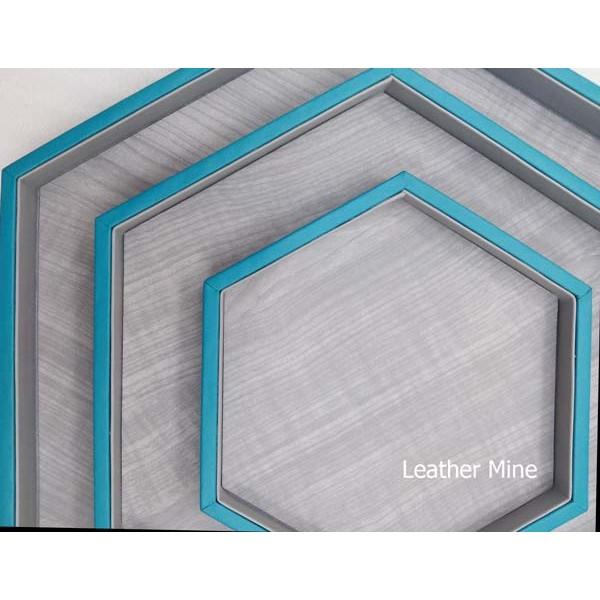 Hexagon tray turquoise