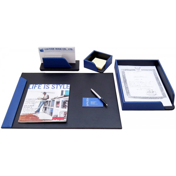 Desk set blue