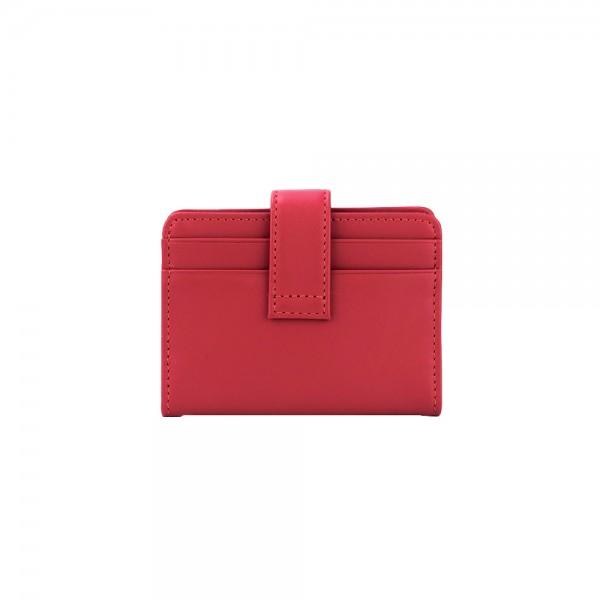 12671/1 : กระเป๋านามบัตรหนังแบบพับ พร้อมกระดุมอย่างดี