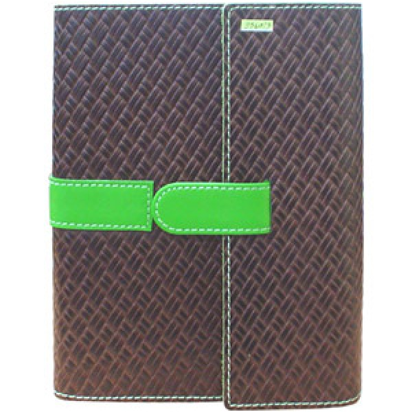 9560_3 Leather Woven Journal