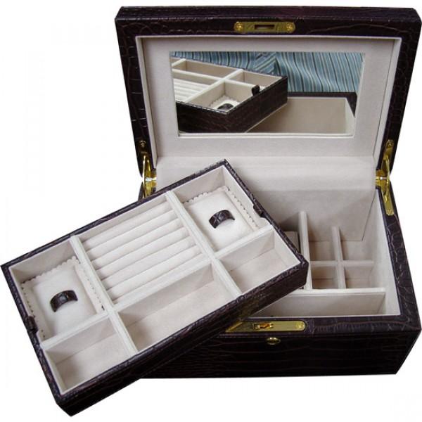 W0129 faux crocodile jewelry box