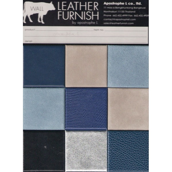 Leather Wall Decoration Blue